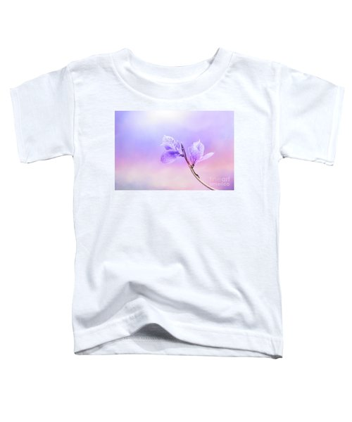Charming Baby Leaves In Purple Toddler T-Shirt