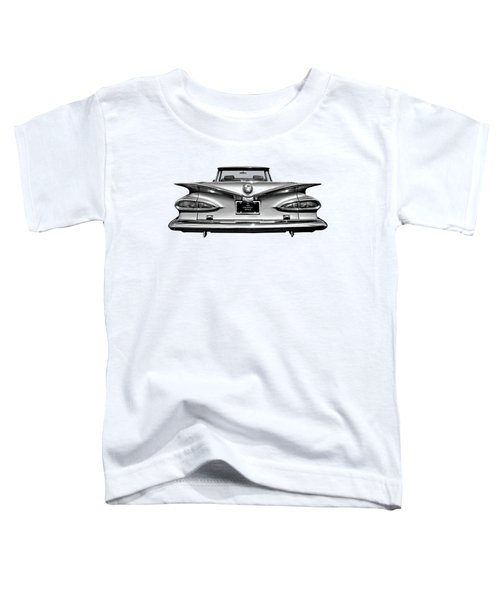Chevrolet Impala 1959 In Black And White Toddler T-Shirt