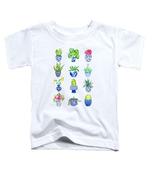 Chinoiserie Cactus Collection Toddler T-Shirt