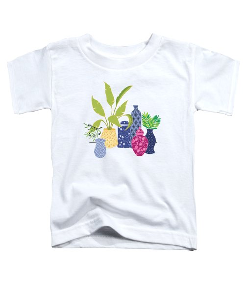 Chinoiserie Vases Toddler T-Shirt