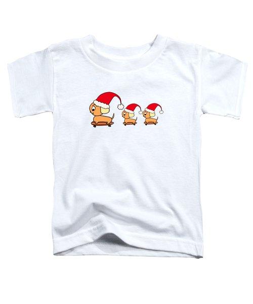 Christmas Dogs On Skateboards Toddler T-Shirt