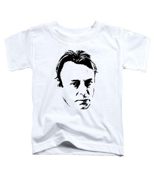Christopher Hitchens Minimalistic Pop Art Toddler T-Shirt