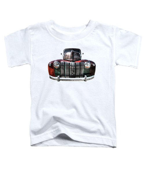 Colorful Rusty Ford Head On Toddler T-Shirt