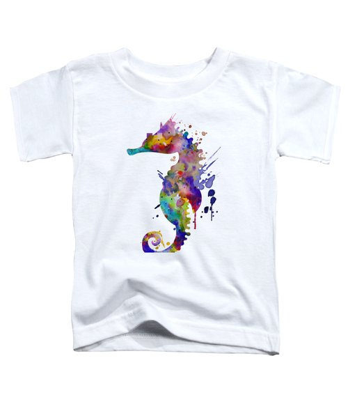 Colorful Seahorse Silhouette Toddler T-Shirt
