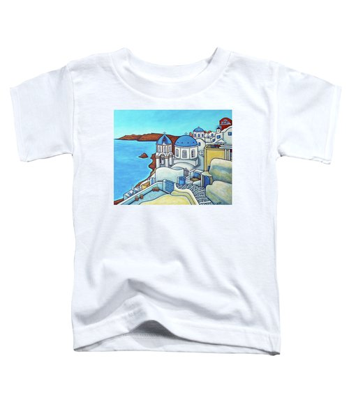 Colours Of Santorini Toddler T-Shirt