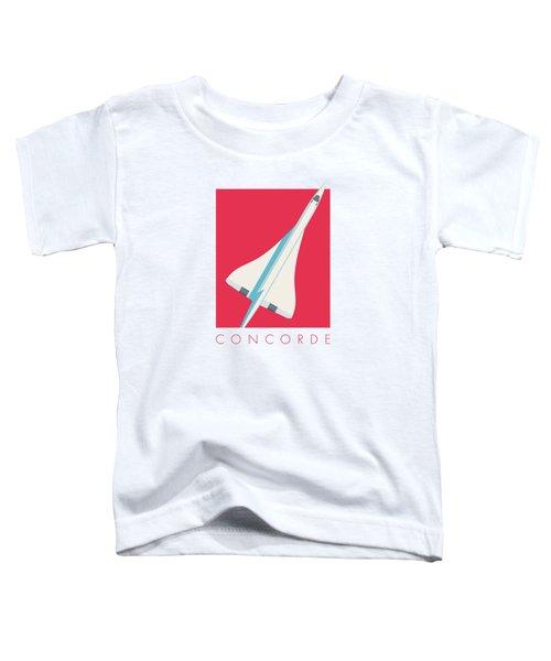Concorde Jet Airliner - Crimson Toddler T-Shirt