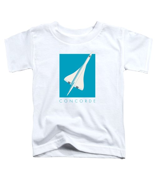Concorde Jet Airliner - Cyan Toddler T-Shirt