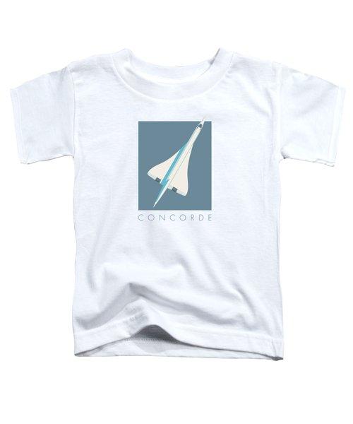 Concorde Jet Passenger Airplane Aircraft - Slate Toddler T-Shirt