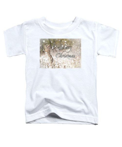 Conttontail Christmas Toddler T-Shirt
