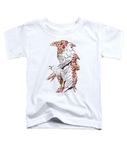 Cool Bird Illustration Toddler T-Shirt