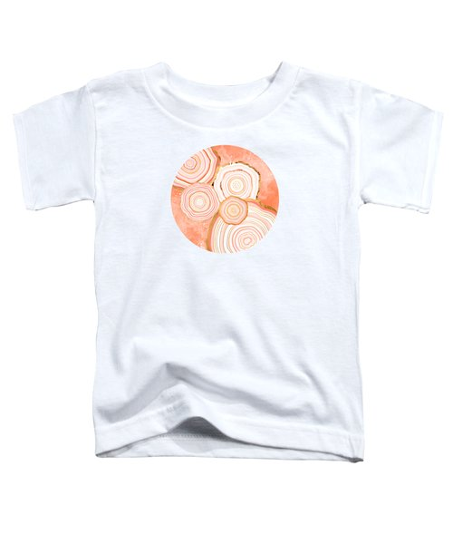 Coral Agate Abstract Toddler T-Shirt