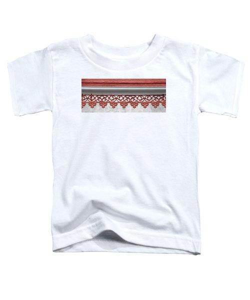 Coral Pink Wrought Iron Trim Toddler T-Shirt