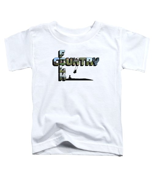 Country Folk Big Letter Graphic Art Toddler T-Shirt
