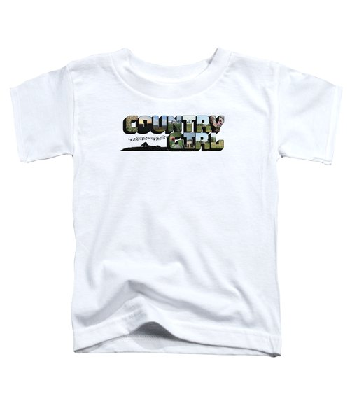 Country Girl Big Letter Toddler T-Shirt