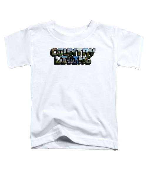 Country Living Big Letter Toddler T-Shirt