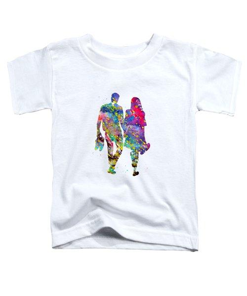 Couple Walking Barefoot Toddler T-Shirt