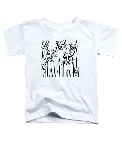 Curious Cats-  Art By Linda Woods Toddler T-Shirt