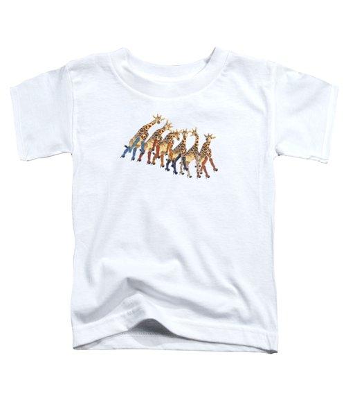 Curious Giraffes Png Toddler T-Shirt