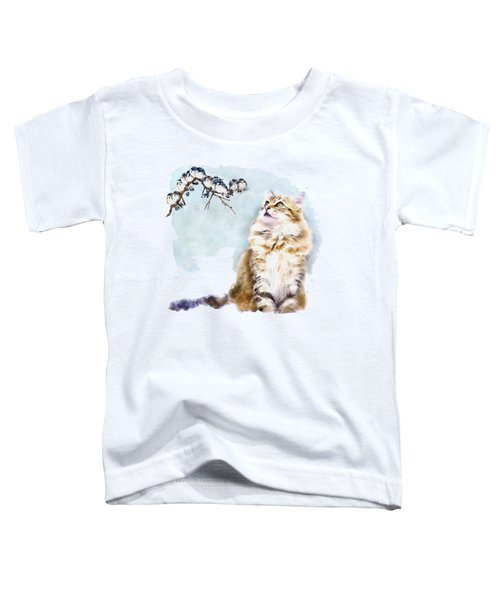 Cute Cat On The Lurk Toddler T-Shirt