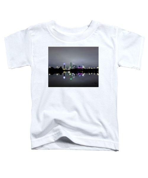 Dallas Texas Cityscape River Reflection Toddler T-Shirt