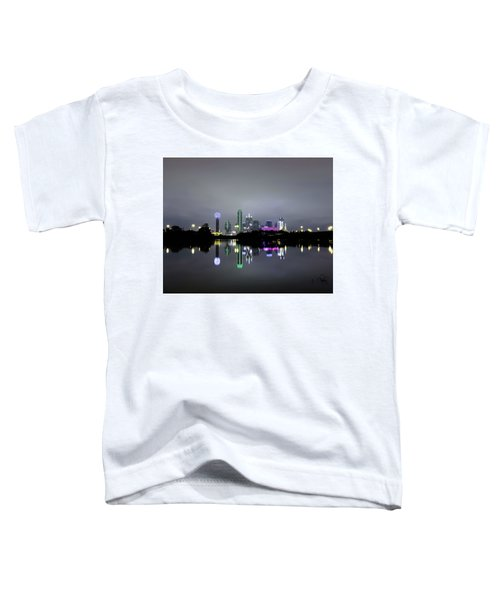 Dallas Texas Cityscape River Reflection Toddler T-Shirt
