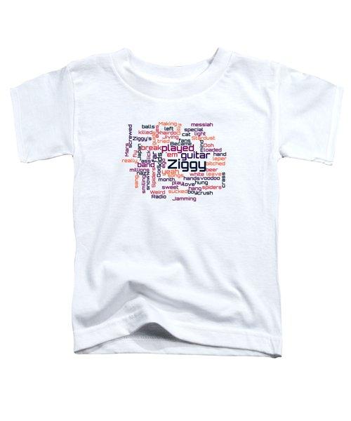 David Bowie - Ziggy Stardust Lyrical Cloud Toddler T-Shirt