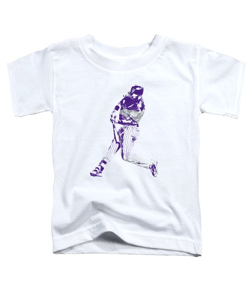 David Dahl Colorado Rockies Pixel Art  Toddler T-Shirt