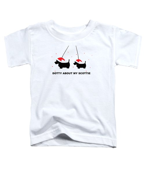 Dotty About My Scottie - Xmas Toddler T-Shirt