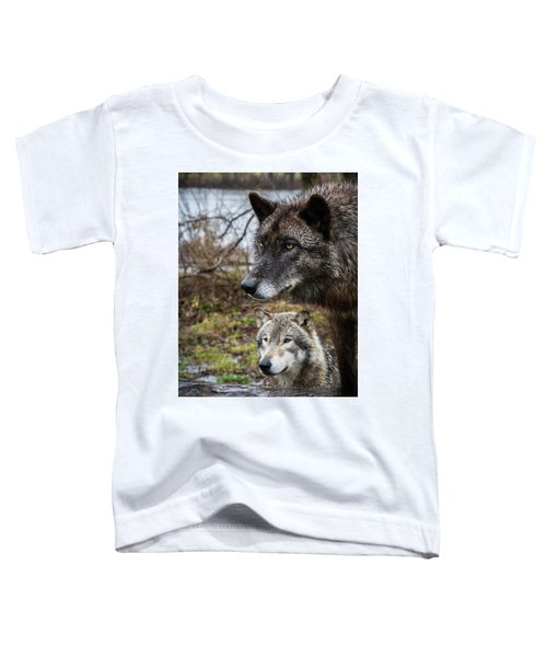 Dual Wolves Toddler T-Shirt