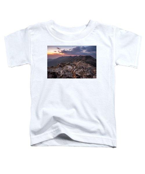 Dusk At Peak Vihren  Toddler T-Shirt