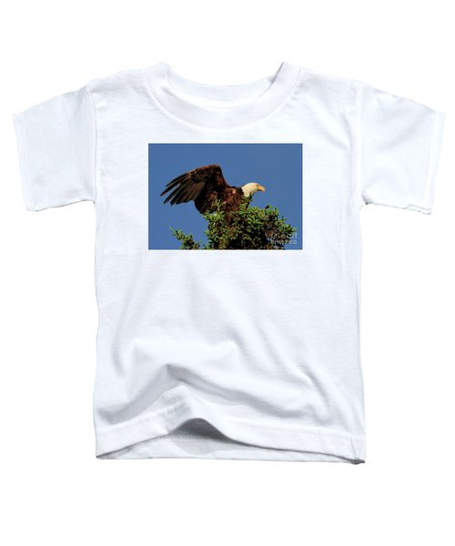 Eagle In Treetop Toddler T-Shirt