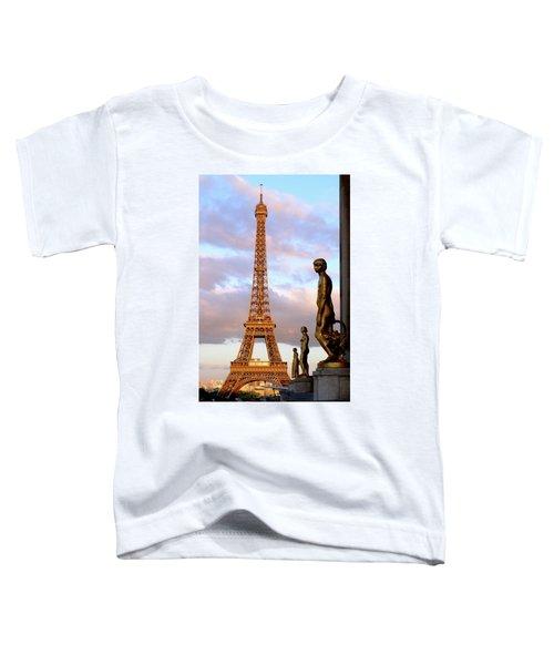 Eiffel Tower At Sunset Toddler T-Shirt