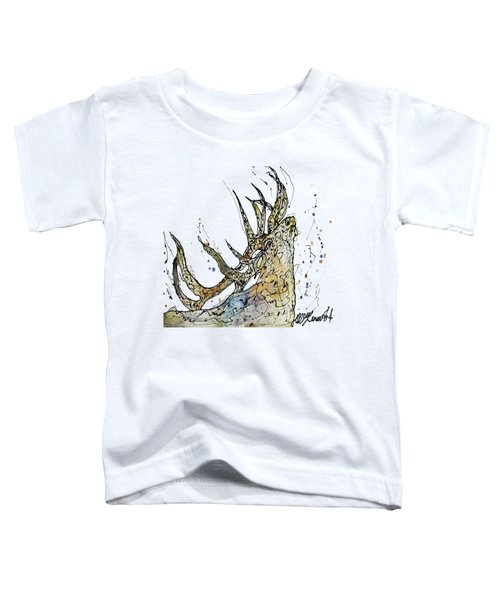 Elk Art Print By Olena Art Toddler T-Shirt