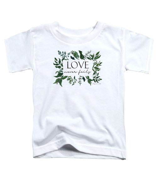 Emerald Wild Forest Foliage 2 Watercolor Toddler T-Shirt
