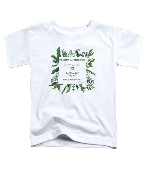Emerald Wild Forest Foliage 3 Watercolor Toddler T-Shirt