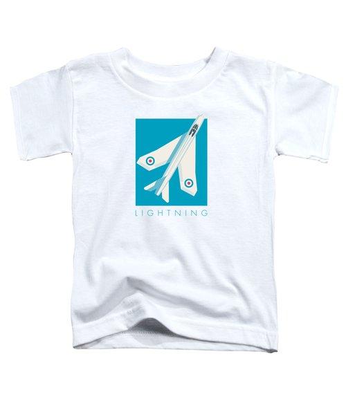 English Electric Lightning Fighter Jet Aircraft - Blue Toddler T-Shirt