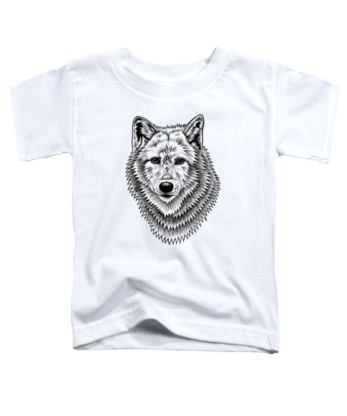 European Wolf - Ink Illustration Toddler T-Shirt