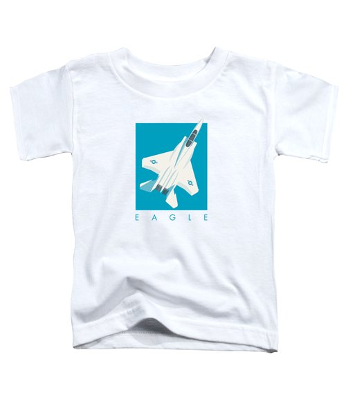 F15 Eagle Fighter Jet Aircraft - Blue Toddler T-Shirt