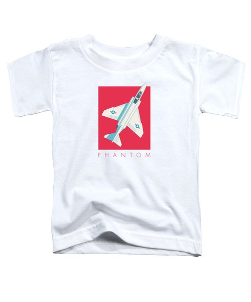 F4 Phantom Jet Fighter Aircraft - Crimson Toddler T-Shirt