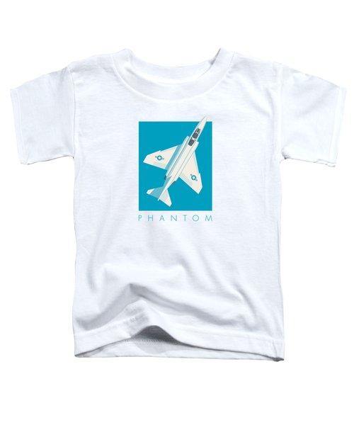 F4 Phantom Jet Fighter Aircraft - Cyan Toddler T-Shirt