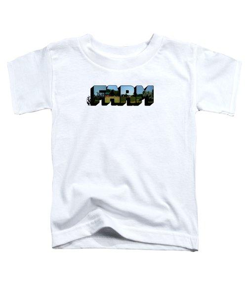 Farm Big Letter Toddler T-Shirt