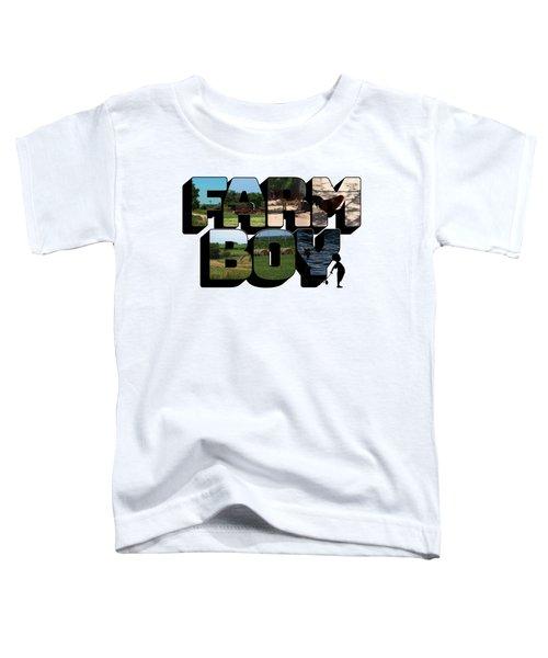 Farm Boy Big Letter 2  Toddler T-Shirt