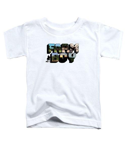 Farm Boy Big Letter Toddler T-Shirt