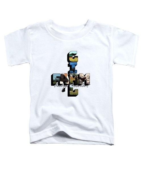 Farm Girl Big Letter 2 Toddler T-Shirt