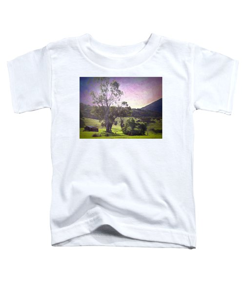 Toddler T-Shirt featuring the photograph Farm Scene by Alison Frank