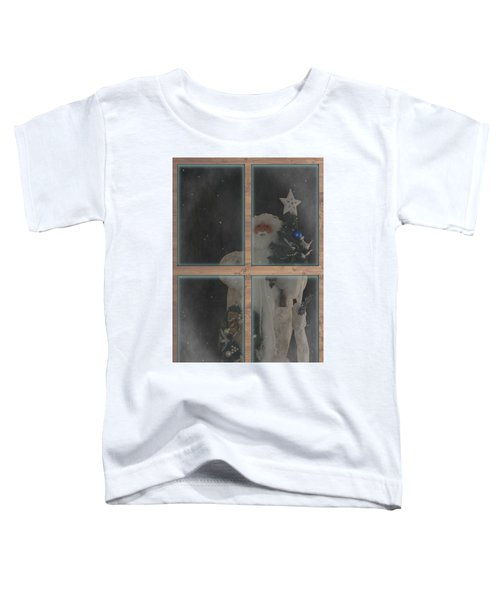 Father Christmas In Window Toddler T-Shirt