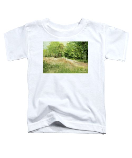 Woodland Trees And Dirt Road Toddler T-Shirt