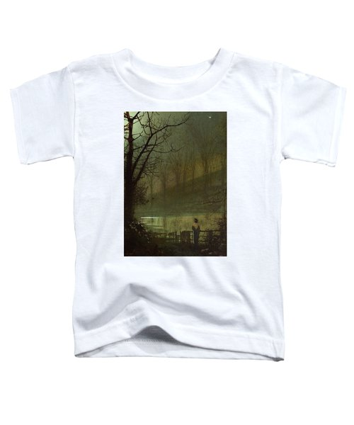 Figure By A Moonlit Lake Toddler T-Shirt