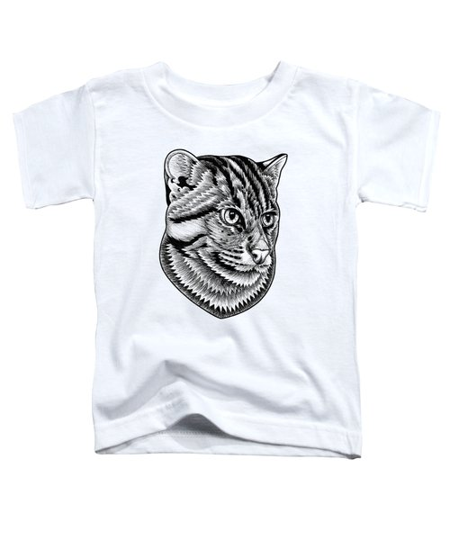 Fishing Cat  Ink Illustration Toddler T-Shirt