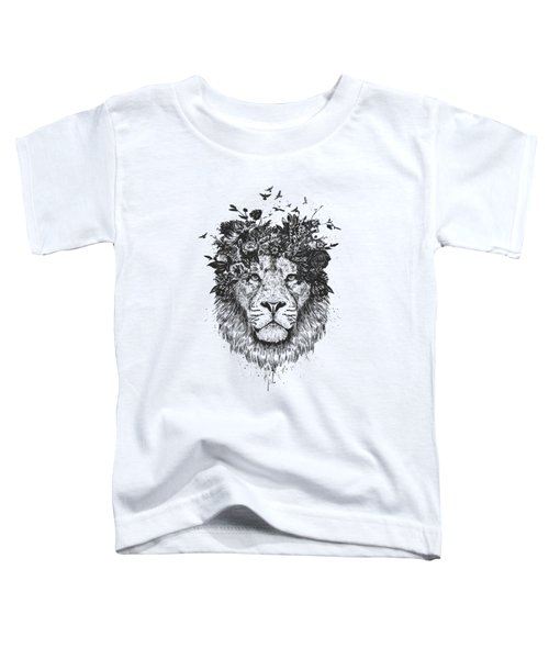 Floral Lion Toddler T-Shirt